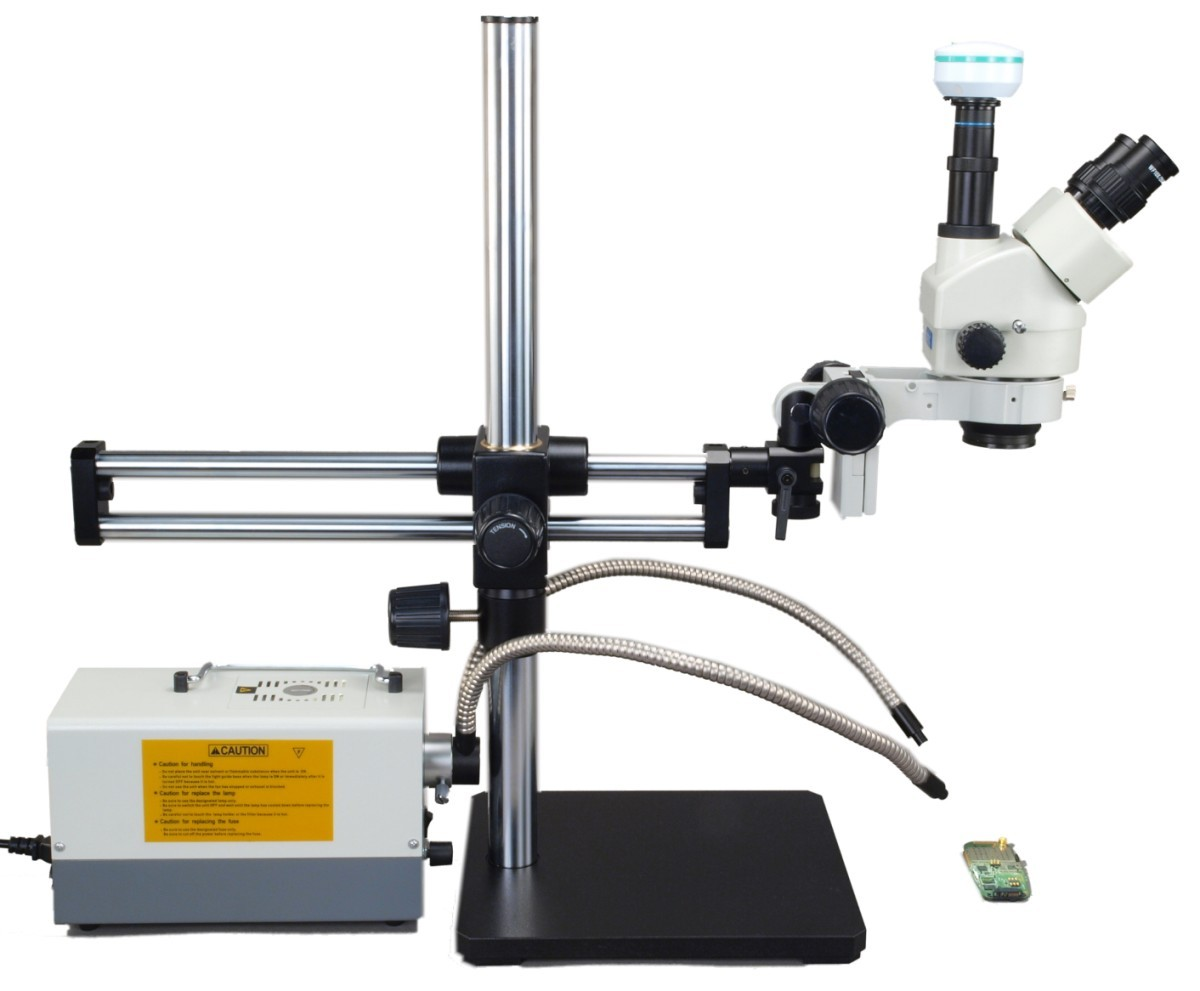 Omax Microscope Ball Bearing Boom Stand For Stereo