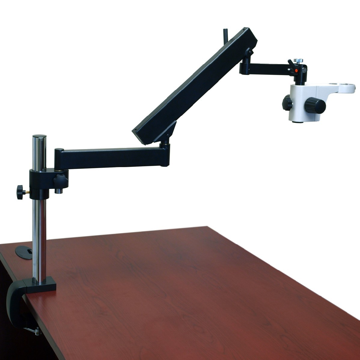 Omax Microscope Articulating Arm Boom Stand With Table Clamp