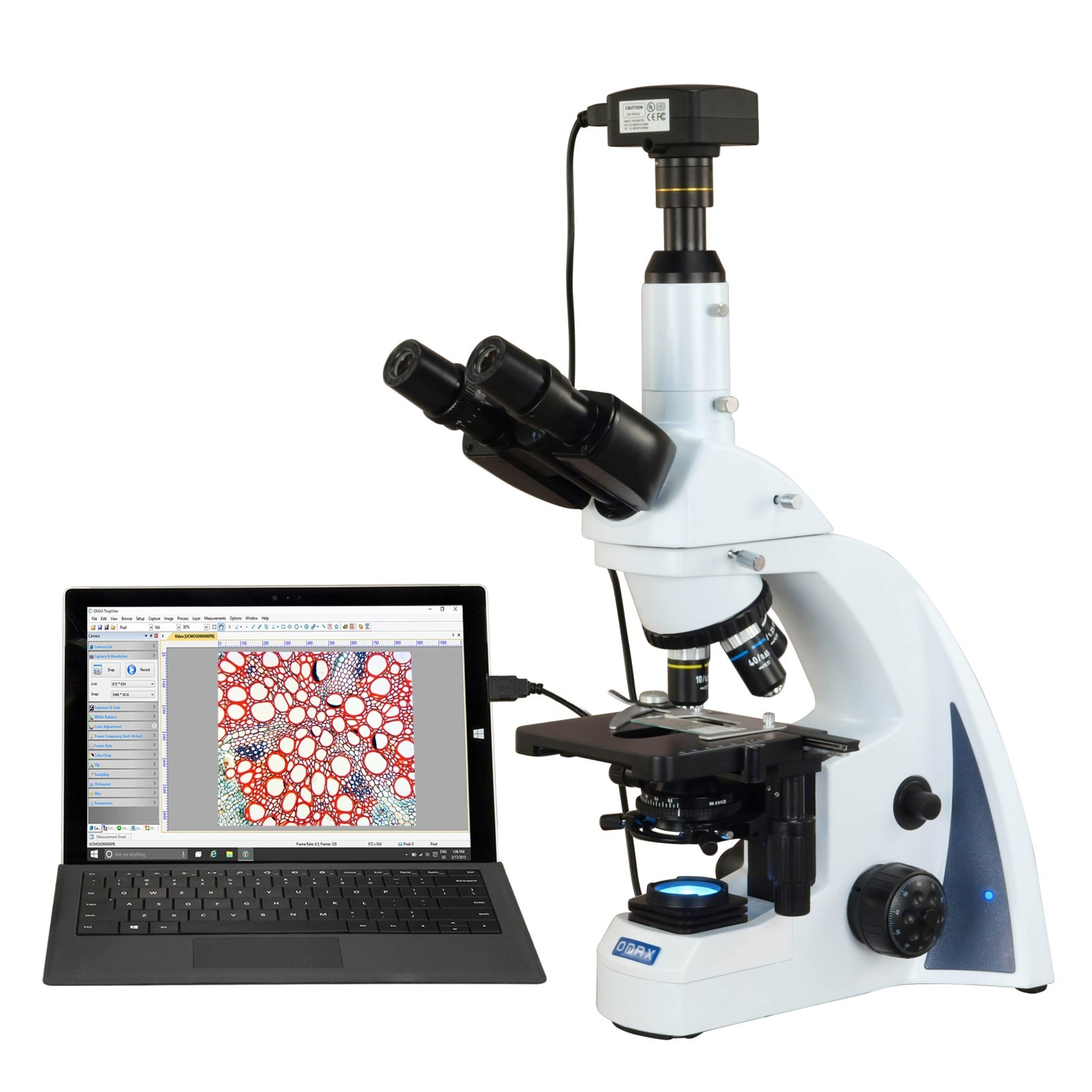 OMAX 40X-2500X USB3 14MP PLAN Infinity Trinocular Siedentopf LED Lab Compound Biological Microscope