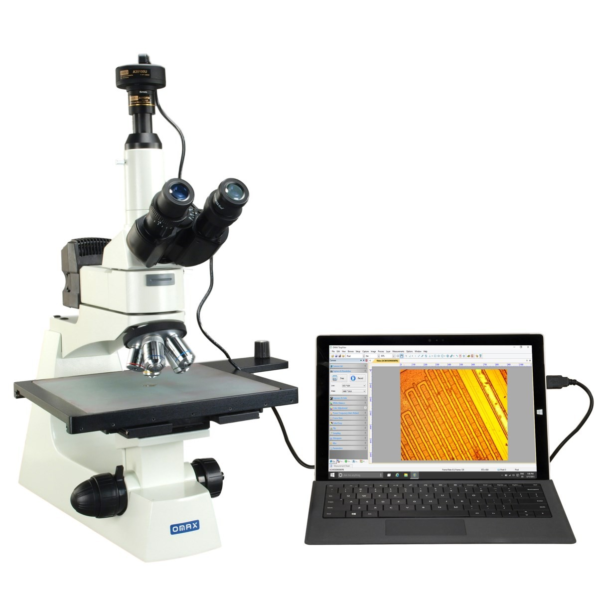 Large Stage Industrial Inspection Infinity Microscope+10MP Camera