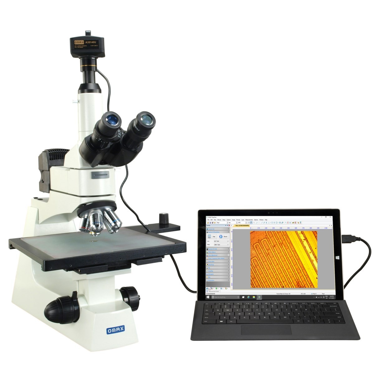 Omax Microscope Large Stage Industrial Inspection Infinity