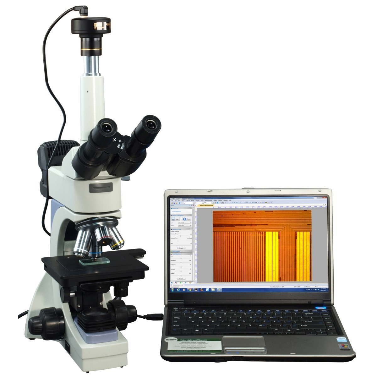 OMAX 40X-2000X Infinity Trinocular Metallurgical Microscope+Transmitted/Reflected Light+10MP Camera