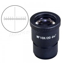 WF10X/20 High Eye Point Widefield Eyepiece for Microscope 30.0mm with Scale and Crossline Reticle