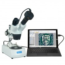 OMAX 20X-60X 3MP Digital Camera Binocular Stereo Student Microscope with Dual Lights