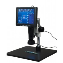 "OMAX 11X-102X Digital Inspection Zoom Microscope 8"" LCD Monitor with 96 LED Light"
