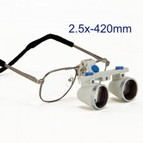 OMAX 2.5X/420mm(16 inches) Binocular Dental Surgical Loupes with Titanium Frame