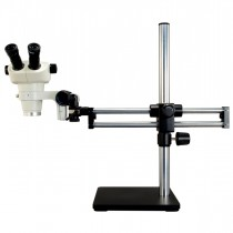 3X-50X Binocular Zoom Stereo Microscope with Ball Bearing Dual-arm Boom Stand