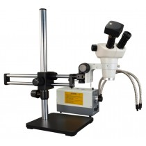 3X-300X Binocular Zoom Stereo Microscope+Boom Stand+150W Cold Light+14MP Camera