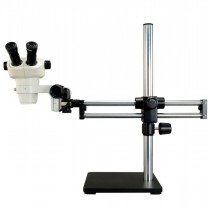6X-50X Binocular Zoom Stereo Microscope with Ball Bearing Dual-arm Boom Stand