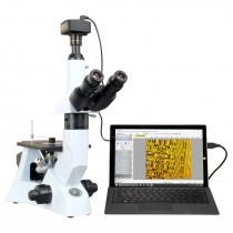 OMAX 40X-400X Digital 14.0MP PLAN Trinocular Inverted Infinity Metallurgical Polarizing Microscope
