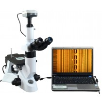 Inverted Infinity Metallurgical Microscope 40X-400X w 9MP Camera