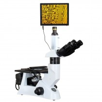 OMAX 40X-400X 5MP Touchpad Screen Trinocular Inverted Infinity Metallurgical Polarizing Microscope