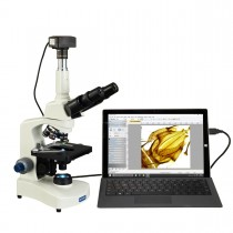 OMAX 40X-2500X Super Speed USB3 10MP Digital Lab Compound Siedentopf Trinocular LED Microscope