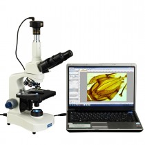 OMAX 40X-2500X Trinocular Compound Siedentopf LED Microscope with 1.3MP USB Camera