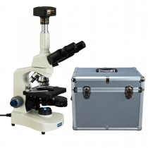 OMAX 40X-2500X Phase Contrast Trinocular Compound LED Reversed Microscope+14MP Camera+Aluminum Case