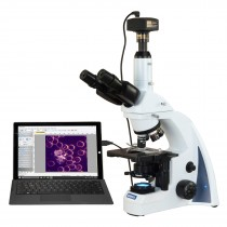 OMAX 40X-2500X 14MP USB PLAN Infinity Darkfield Trinocular Siedentopf LED Lab Compound Microscope