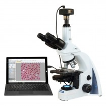 OMAX 40X-2500X 14MP PLAN Infinity Phase Contrast Trinocular Siedentopf LED Lab Compound Microscope