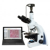 OMAX 40X-2500X 5MP USB3 PLAN Infinity Phase Contrast Trinocular Siedentopf LED Compound Microscope