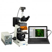 OMAX 40X-1600X Professional USB3 18MP Trinocular EPI-Fluorescence Compound Biological Lab Microscope