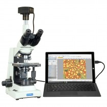 OMAX 40X-2000X 5MP USB 3.0 PLAN Trinocular Compound Lab Research Microscope with Super Bright LED