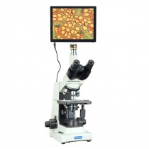 OMAX 40X-2000X 5MP 9.7 Inch Touchscreen PLAN Compound Lab Research Microscope with Super Bright LED