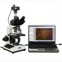 40X-2000X Trinocular Advance Darkfield Compound LED Microscope with 1.4MP CCD Digital Camera