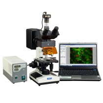 OMAX 40X-2500X EPI-Fluorescence Trinocular Biological Microscope with 9MP CMOS USB Digital Camera