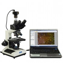 40X-2500X Brighter Darkfield LED Trinocular Compound Microscope with 9MP Digital Camera