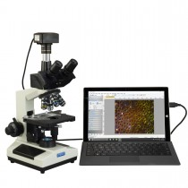 OMAX 40X-2500X Super Speed USB3 10MP Digital Darkfield Trinocular LED Lab Microscope for Live Blood