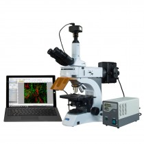 OMAX 40X-1000X PLAN Infinity EPI-Fluorescent Trinocular Compound Microscope with 1.4MP CCD Camera