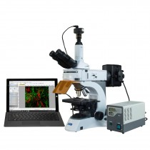 OMAX 40X-1000X PLAN Infinity EPI-Fluorescent Trinocular Compound Microscope with 2.0MP Camera