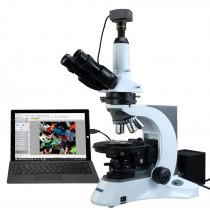 OMAX 40X-1000X PLAN Trinocular Infinity Polarizing Microscope with 10MP USB3.0 Camera