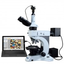 OMAX 50X-1000X PLAN Infinity EPI/Transmitted Light Polarizing Microscope with 10MP Digital Camera