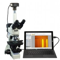 OMAX 40X-2000X USB3 10MP Infinity Trinocular Metallurgical Microscope + Transmitted/Reflected Light
