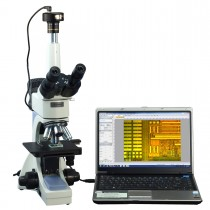 OMAX 40X-2500X PLAN Infinity Trinocular Polarizing Metallurgical Microscope with 1.3MP Camera