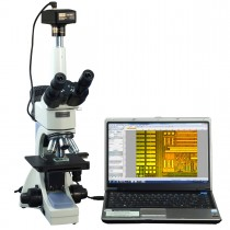 OMAX 40X-2500X PLAN Infinity Trinocular Polarizing Metallurgical Microscope with 14MP Camera