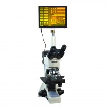 OMAX 40X-2500X 5MP Touchscreen Infinity Trinocular Metallurgical Microscope with 100X Dry Objective