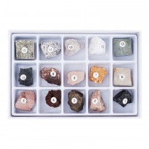 15 pc Rock Specimen Kit for Stereo Microscopes