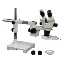 Boom Stand 3.5-45X Zoom Stereo Microscope+Fluorescent Ring Light