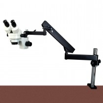2.1X-90X Zoom Stereo Microscope+Articulating Stand+0.3X Barlow