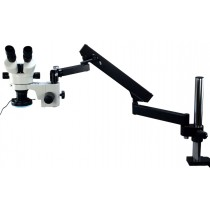 Articulating Arm Boom Stand 3.5~90X Zoom Microscope w/ 144 Light