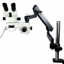 Articulating Arm Boom Stand 7~45X Zoom Microscope w 54 LED Light