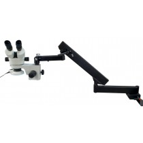 7~45X Articulating Arm Stand Zoom Stereo Microscope w54 LED Lite