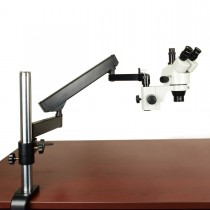 3.5X-45X Trinocular Zoom Stereo Microscope on Articulating Arm Stand