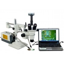 2X-270X Simal-focal Zoom Stereo Simul-focal Microscope with Fiber Light and 9MP Camera