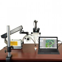 OMAX 2X-270X 10MP Simal-focal Zoom Stereo Microscope on Articulating Arm Stand with 150W Fiber Light