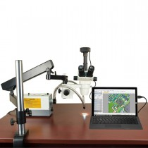 OMAX 2X-270X USB3 10MP Simal-focal Zoom Stereo Microscope on Articulating Arm+150W Dual Fiber Light