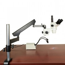 OMAX 6.7-45 Simal-focal Zoom Stereo Microscope+Articulating Arm Stand+2W LED Light