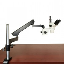 OMAX 6.7X-45X Simal-focal Zoom Trinocular Microscope with Articulating Arm Stand