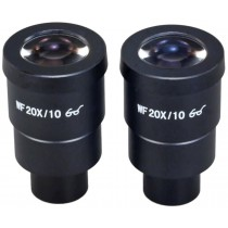 A pair of WF20X/10 Widefield Eyepieces for Microscope 30.0mm